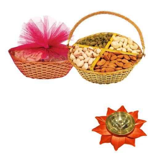 Fancy Dry Fruits Tokni (A1) with Medium Diya