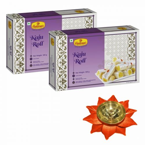 Kaju Roll Pack of 2 (500g x 2) with Medium Diya