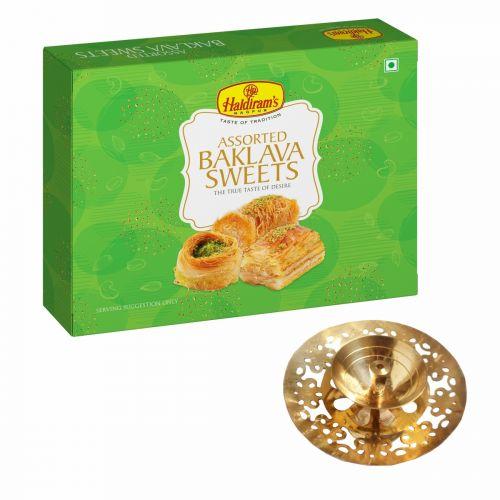 Assorted Baklava Sweets 300 g with Medium Diya