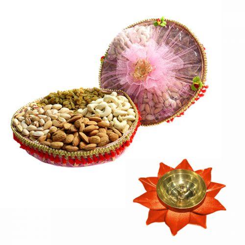 Dry Fruit Tokni 800 g with Medium Diya