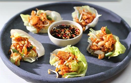 Bhel Lettuce Wraps