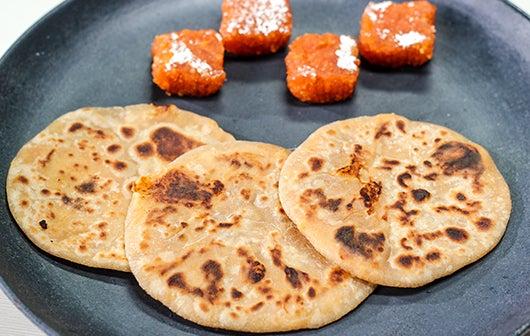 Orange Burfee Puran Poli